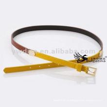 1,5 см тощий золотой пряжкой смешанных цветных пояса дамы кожаный пояс BC4623G-3
