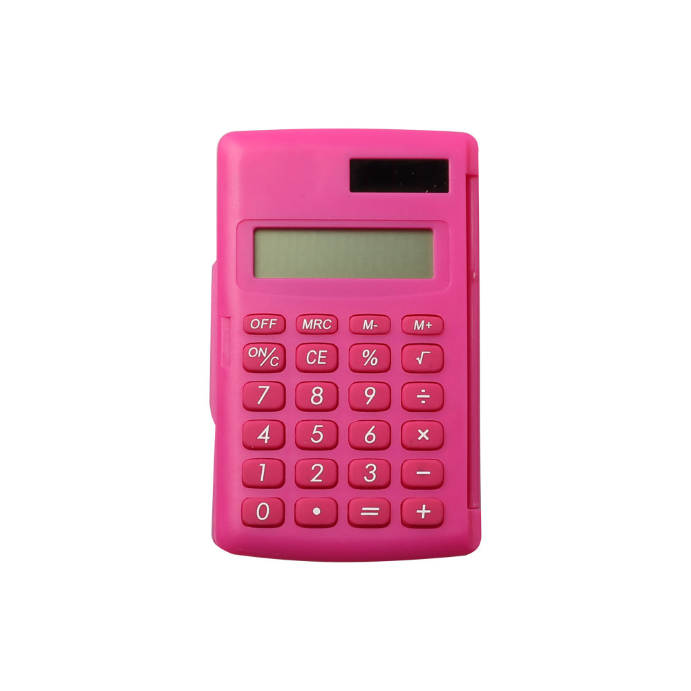 Dual Power Colorful Pocket Calculator with Cover