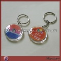 Lovely clear polished round promotional acrylic/lucite key chain/ring/holder with your picture or ad