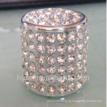 tampa de perfume com diamante