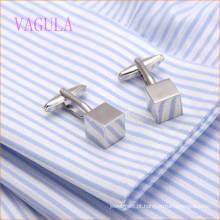 VAGULA Moda Novo Design de Prata Banhado Suave Cube Gemelos Abotoaduras De Cobre