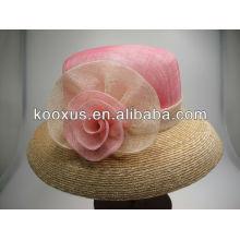 Venta al por mayor sinamay del sombrero de la promoción acepte la pequeña orden