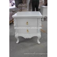 Elegante mesa de noche de madera blanca de pie XYN313