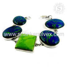 Splendide bijoux en argent multi-gemmes Bracelet en argent sterling 925 bijoux en argent faits à la main