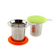 Chá de infusor e chá de ervas da folha solta de venda quente de Amazon - ventosos & Strains do chá das fermentações & únicos copos do chá extra fino