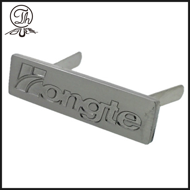 Soft enamel name plate metal