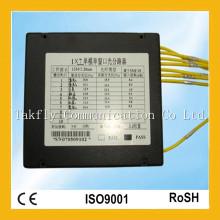 De Buena Calidad 1X5 de un solo modo de doble ventana Fibra Óptica PLC Splitter