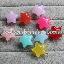 14 * 23MM & 20 * 38MM acrylique translucide Star Charms pendentifs