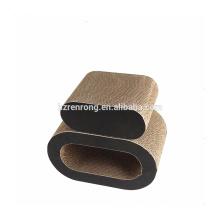 Usine prix lit de chat d'intérieur de produits d'animal familier de jouet d'éraflure de chat de carton CT-4034