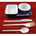 Plastic Airline Rotable Inflight Tableware Food Tray Meal Set