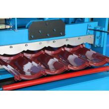 Bogen glasierte Stahldachziegelblatt-Rolle, die Maschine bildet