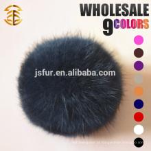Fábrica Atacado Colorful Rabbit Fluffy Fur Pom Poms Rabbit Balls Keychain