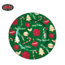 Colorful Christmas Plastic Charger Plate with Printing