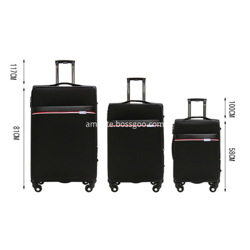 different size trolley luggage