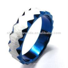 El anillo de los hombres del zigzag del zafiro de la manera de la venta superior 2012