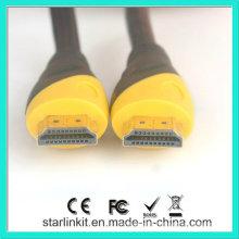Câble HDMI haute vitesse 3D 4k plaqué or noir jaune