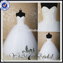 RSW539 Cheap Sweetheart A-Line Beading Bling Wedding Dresses Ball Gown Made In China