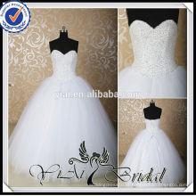 RSW539 Cheap Sweetheart A-Line Beading Bling vestidos de casamento vestido de bola feito na China