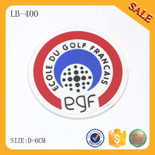LB400 Calor-anexado vestuário etiqueta de PVC de silicone personalizado
