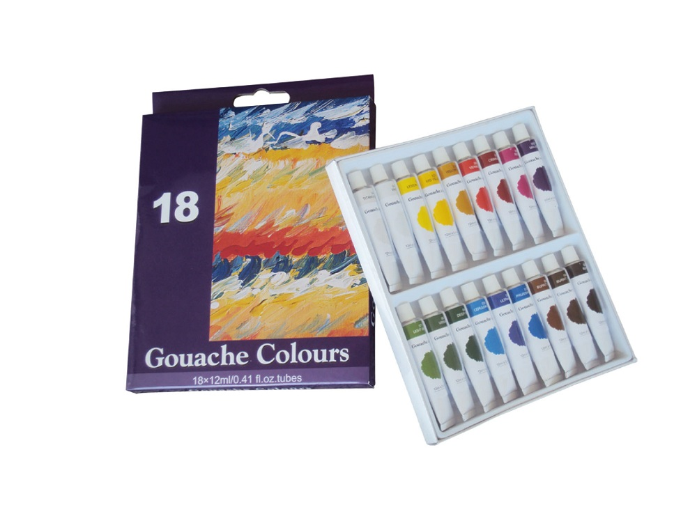 18 Colors Gouache Paint Set