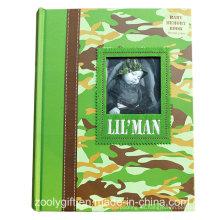 Libro personalizado de la memoria del bebé de la calidad / impresión Libro duro del álbum de la foto de la memoria del bebé de la cubierta