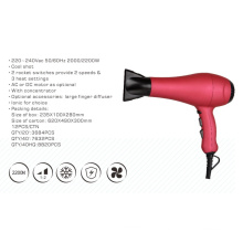 2200W Professional AC DC Dryer with Finger Difusser Option