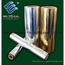 Película de laminación térmica metalizada dorada / plateada