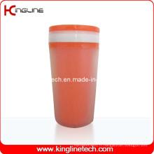 Couvercle en plastique à double couche de 300 ml (KL-5011)