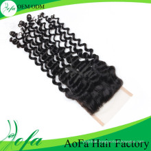 Good Feedback 100% Remy Hair Top Deep Wave Closure