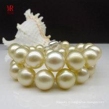 Collier de perles naturelles d'or de Southsea en 10-11mm