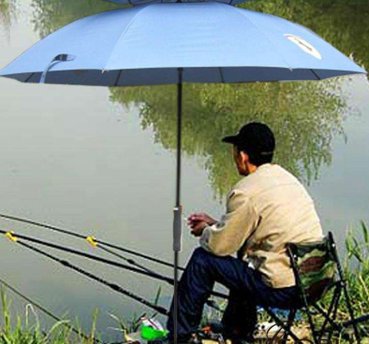 Straight fishing umbrella