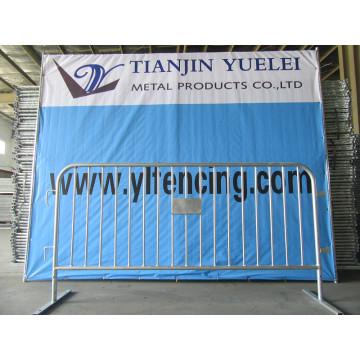 Panneau d'escrime en mèche métallique en acier au carbone / panneau de clôture temporaire / clôture amovible temporaire