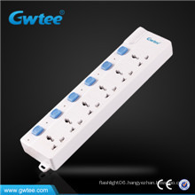 sliding 4 way fused electrical socket GT-6138
