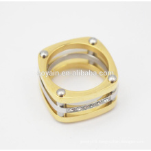 Hottest Selling Saudi Gold Stainless Steel Wedding Ring