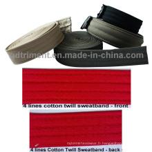 Casquette en caoutchouc Accessant Cotton Sweatband Twill (4 lignes)