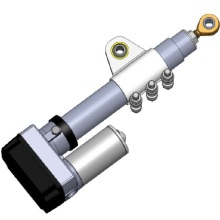 Heavy duty electric linear actuators with brackets