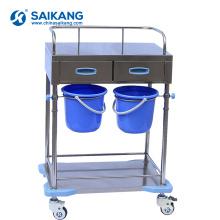 SKH025-1 Chariot médical simple d'hôpital de traitement inoxydable