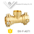 EM-F-A071 soquete tipo latão rosca fêmea tee flange acessórios para tubos