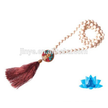 Fashion Turquoise Beaded Tassel Necklace Yoga Jewelry