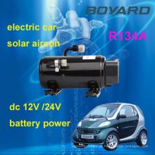 Carro elétrico kits de ar condicionado R134A 12v / 72v / 320v automotivo compressor de ar condicionado elétrico para ar condicionado carro elétrico