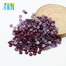 De Buena Calidad Venta caliente Flat Back Perla Cabochons Flatback ABS Perlas de la perla para Craft, Z20-Grape Purple