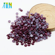 Good Quality Hot Sale Flat Back Pearl Cabochons Flatback ABS Pearl Beads for Craft, Z20-Grape Purple