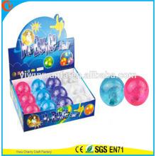 Игрушка 65мм новинка дизайн детский светодиодный проблесковый блеск надувной мяч