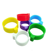 Lowest Price livestock animal leg ring bands colorful poultry foot bands multi-color chicken rings