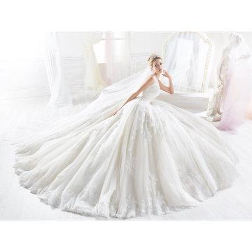 Custom Made Lace Ball Bridal Dress