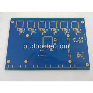 Placa de circuito Multilayer azul do PWB de ENIG da máscara da solda