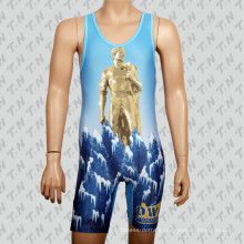 2015 Promotional Custom Cheap Sublimation Wrestling Singlet