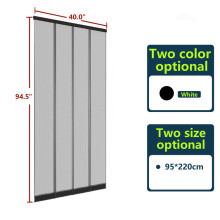 Lamella polyester door curtain with PVC hanging bar