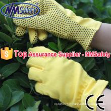 NMSAFETY gants de coton gants de travail à la main tricot gants gants en caoutchouc