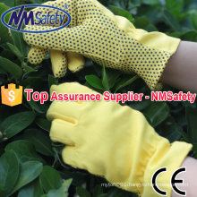 NMSAFETY cotton gloves hand job gloves knit gloves rubber dots